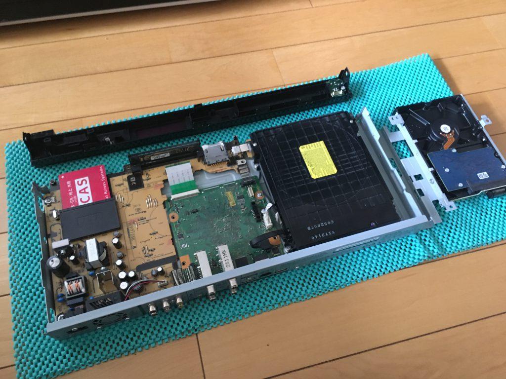 内蔵HDD取り出し完了
